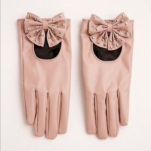 Torrid Rose Gloves with Studded Bows